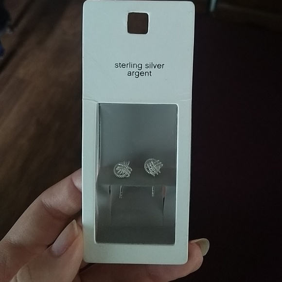 065091d8dc017 Old Navy Sterling silver argent earrings NWT